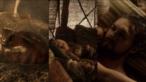 Viserys Targaryen, Rhaego Targaryen, Khal Drogo
