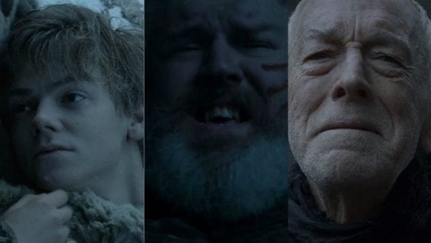 Jojen Reed, Hodor/Wylis, Three-Eyed Raven