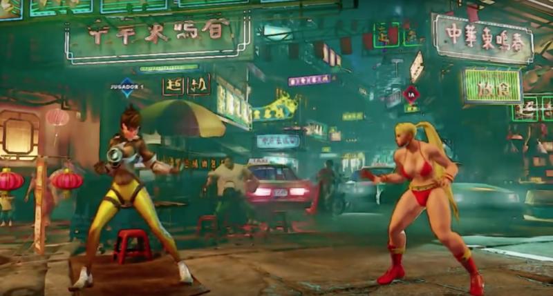 tracer, street fighter v, mod, overwatch