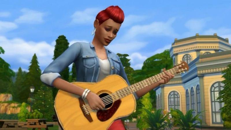 the sims 4, how, write, songs, music, write songs, write music, guitar