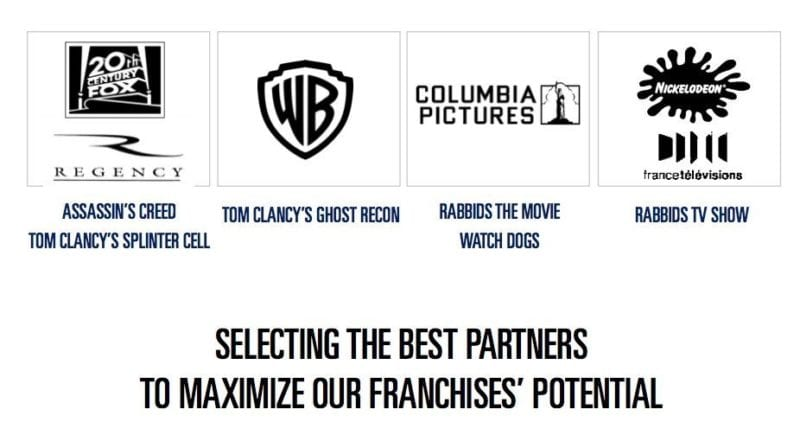 Ubisoft new film partners