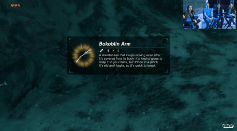 Zelda Breath of the Wild, Bokoblin Arm