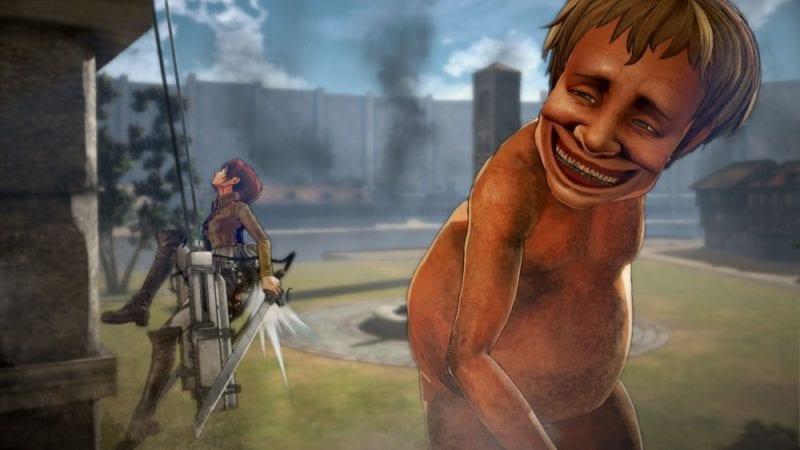 attack on titan smile