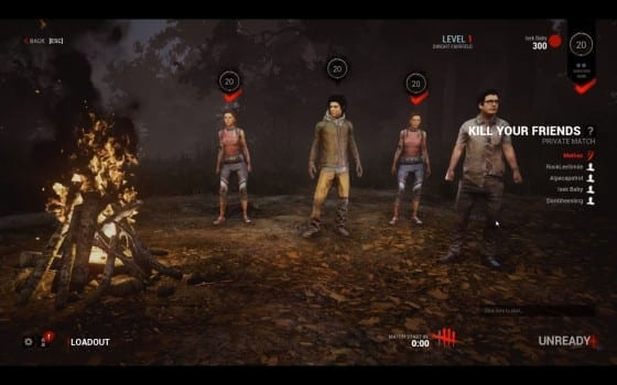 Dead By Daylight, Lobby