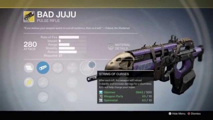 destiny bad juju