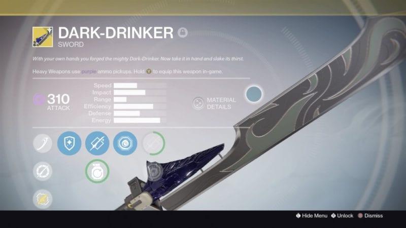 destiny dark drinker