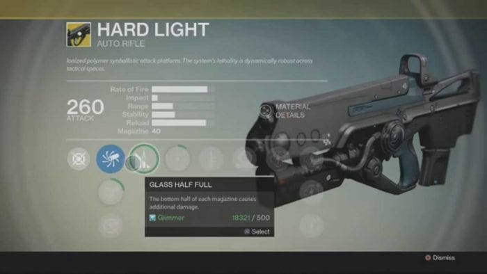 destiny hardlight