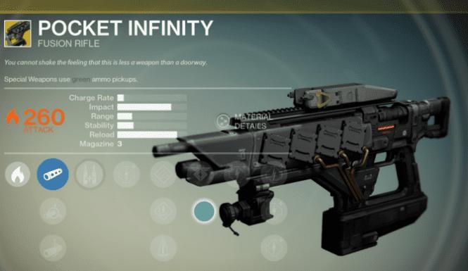 destiny pocket infinity