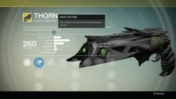 destiny thorn