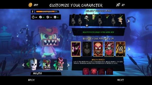 Full Mojo Rampage Character Creation