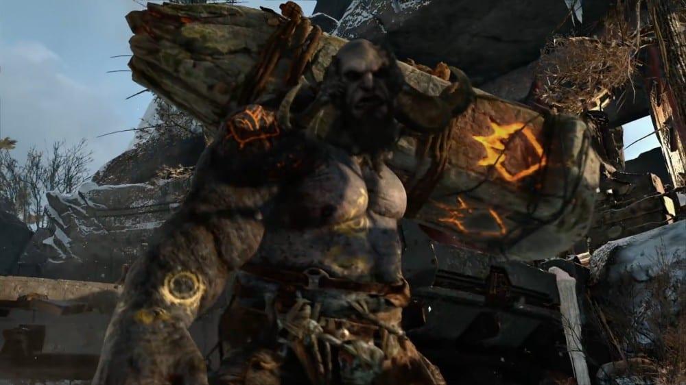god of war huge fight