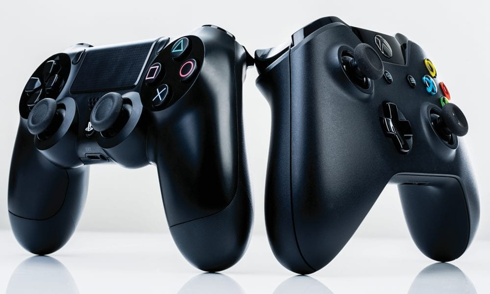 sony ps4 microsoft xbox one controllers