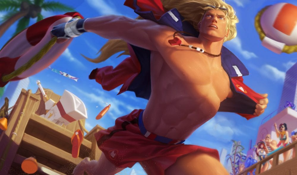 League of Legends Pool Party Taric splash art