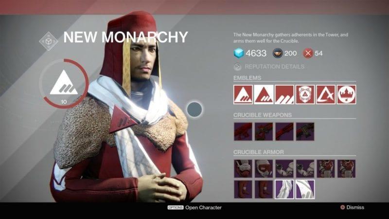 Destiny, New Monarchy