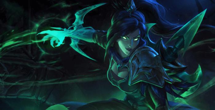 League of Legends Soulstealer Vayne Splash Art