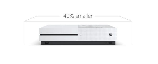 xbox one s vs xbox one size