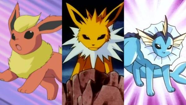 pokemon go eevee eeveelutions evolutions vaporeon, jolteon, flareon