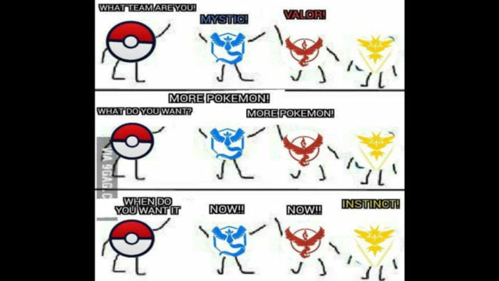 Pokemon GO Valor vs Mystic vs Instinct Memes to Fuel Your ...