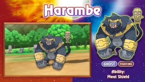 Harambe the Gorilla as a Pokemon