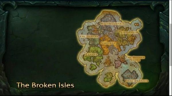 World of Warcraft Legion, The Broken Isles