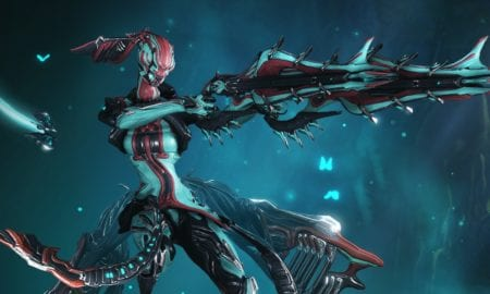 Warframe's Titania in action