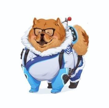 mei overwatch dog