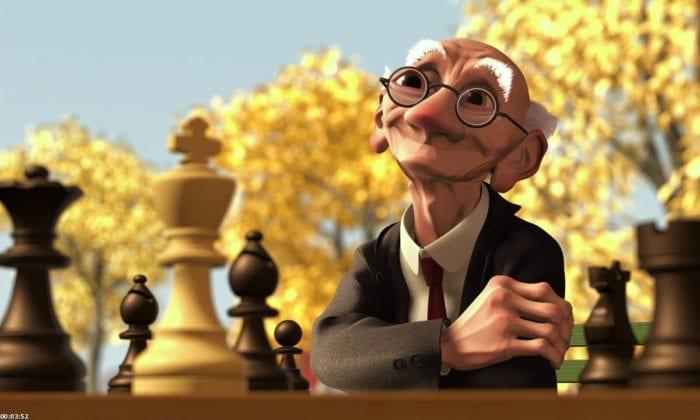 geris game, pixar, short film