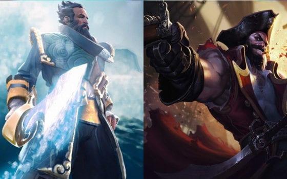 Gankplank (League of Legends) vs Kunkka (Dota 2)