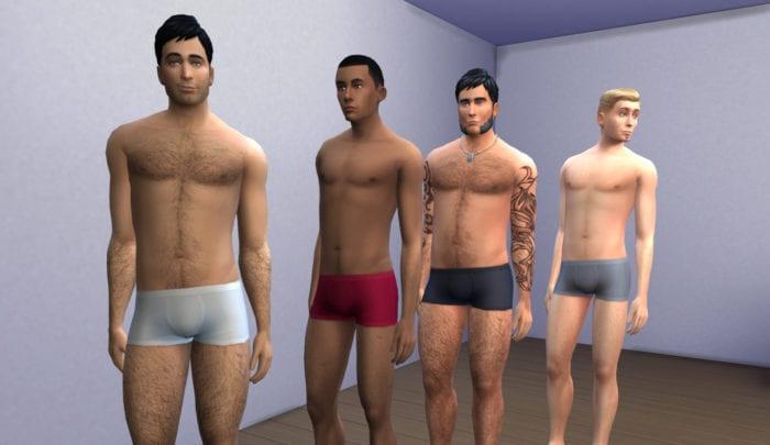 sims body hair