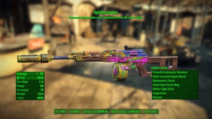 splattercannon fallout 4 nuka-world