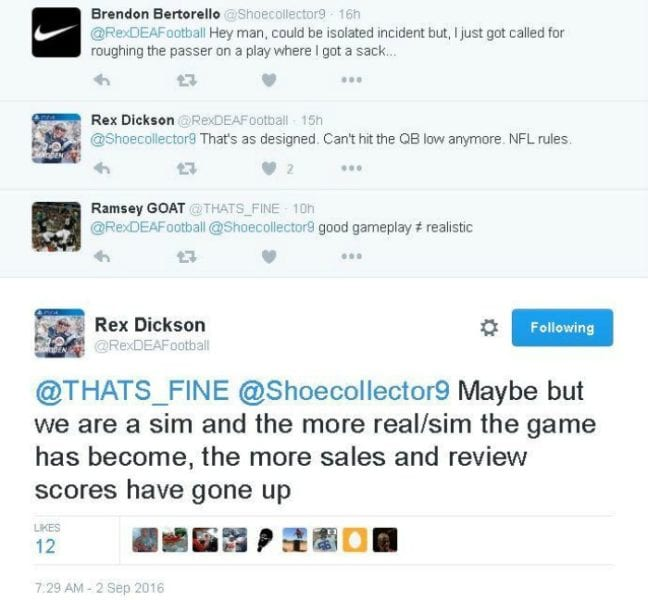 Madden Twitter Exchange