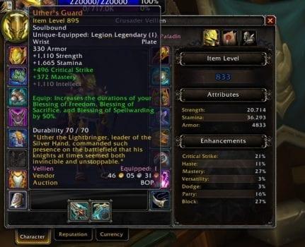 World of Warcraft Legion, Legendary