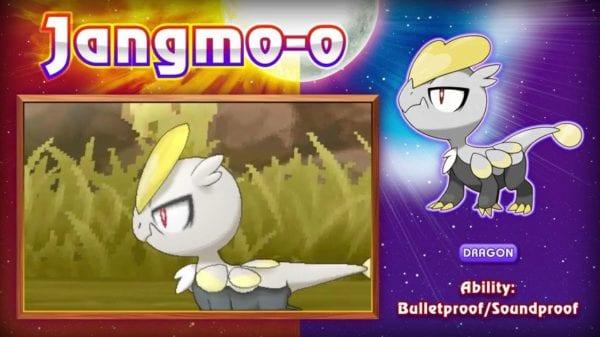 pokemon sun and moon, jangmoo, ultra