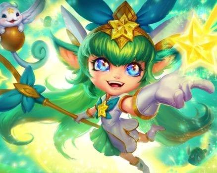 League of Legends Star Guardian Lulu Splash Art