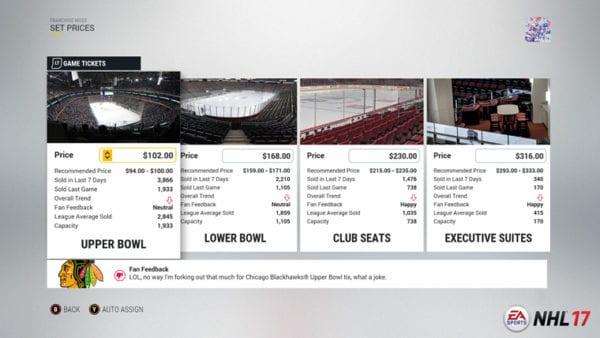 NHL 17 Franchise Mode