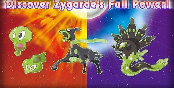 Zygarde Pokemon Sun and Moon