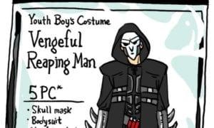 overwatch characters as unliscenced halloween costumes