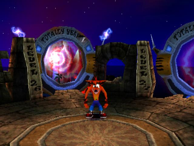 crash bandicoot retro gaming