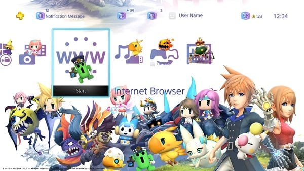 world of final fantasy ps4 theme