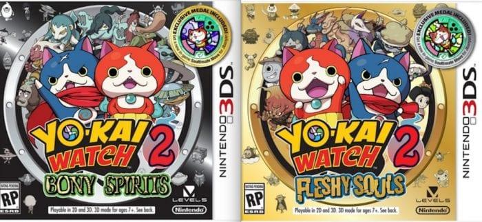 Yo Kai Watch 2 Versions