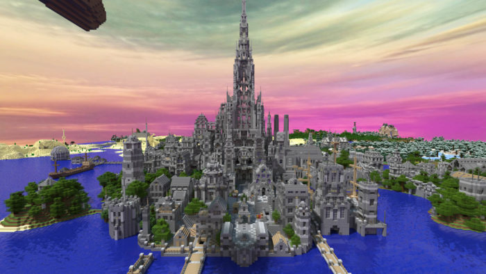 Huge Minecraft castle