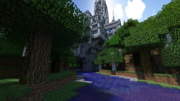 Minecraft castle build