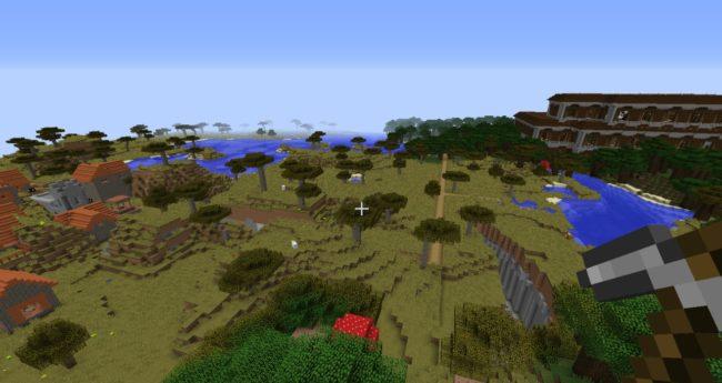 A Savanna, a Ravine, a Blacksmith, and a Nether Fortress