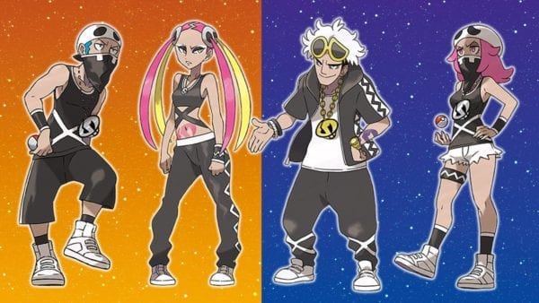 pokemon sun and moon, team skull