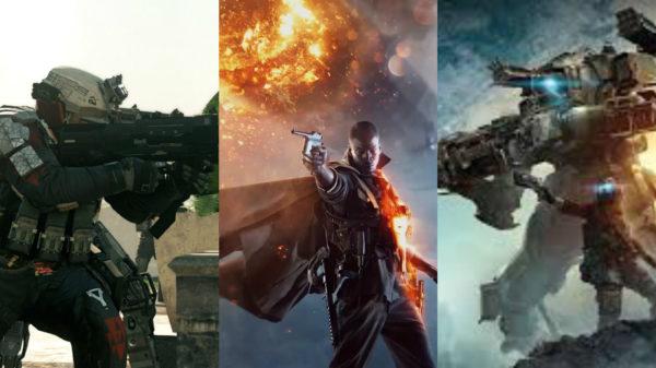 battlefield 1, titanfall 2, call of duty infinite warfare, best, shooter