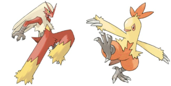 Can a Blaziken breed with a Combusken?