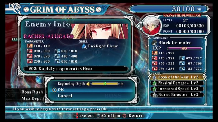 BlazBlue: Central Fiction Grim of the Abyss Mode