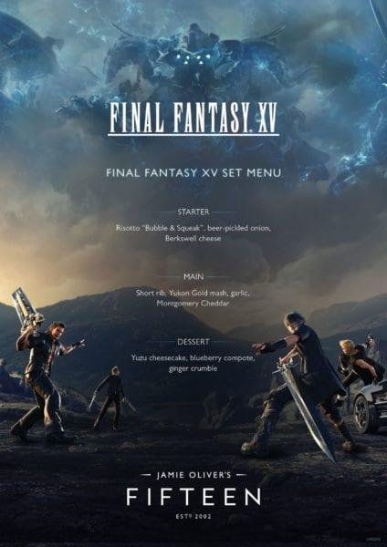 Final Fantasy menu
