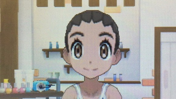 Hairstyles In Pokemon Sun : Cornrow braided bun (bands unavailable)