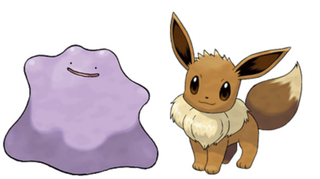 Let's start off easy. Can a Ditto breed with an Eevee?
